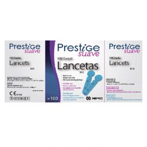 Lancetas PRESTIGE Fácil.  Código 7435